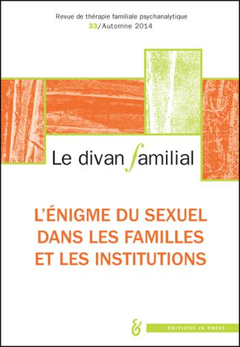 N 33 l nigme du sexuel dans les familles et les for Divan 4 lettres